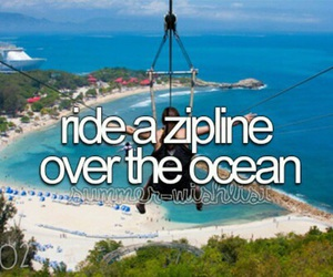 ocean, zipline, and Dream image