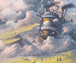 ghibli, anime, and howl's moving castle image