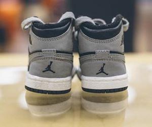 grey, sneakers, and jordan image