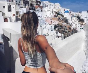 girl, couple, and Greece image