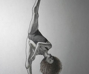 black&white, curly, and paint image