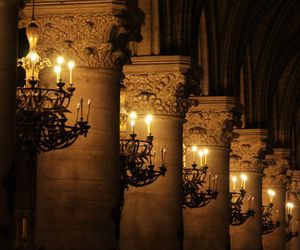arches, candlelight, and candles image