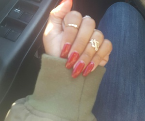 nails, red, and rednails image