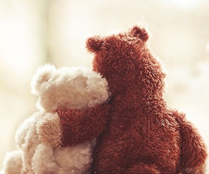 cute, love, and teddy image