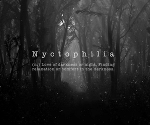 nyctophilia, love, and Darkness image