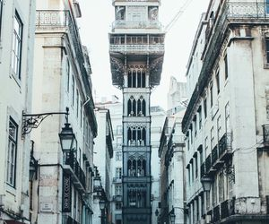buildings, lisbon, and portugal image