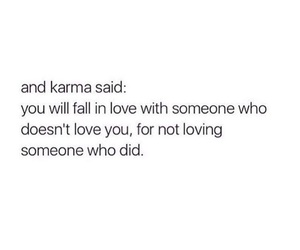 quote, karma, and love image