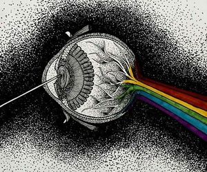 eye, Pink Floyd, and color image