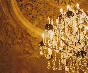 chandelier, vintage, and lights image