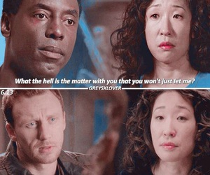 cristina yang, grey's anatomy, and owen hunt image