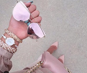 accessories, pink, and sunglasses image