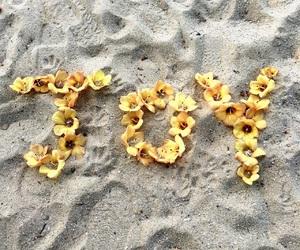 beach, flowers, and joy image