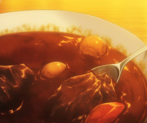 anime, beef, and curry image