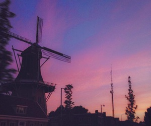 aesthetic, windmill, and sky image