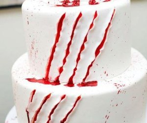 cake, blood, and red image