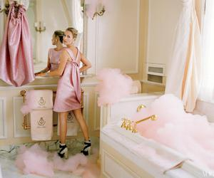kate moss, pink, and vogue image