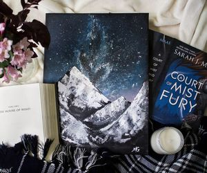 book, a court of mist and fury, and acomaf image