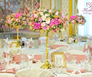 48 images about weddings by melodica wedding agency on we heart it flowers gold and pink image junglespirit Image collections