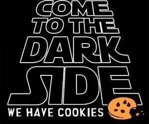 Cookies, dark side, and star wars image
