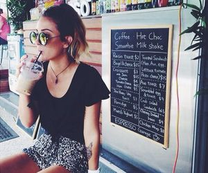 coffee, fashion, and girl image