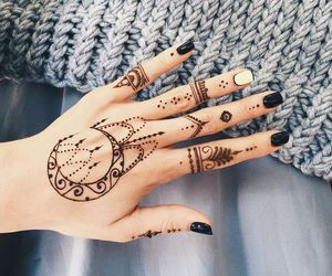 black, dark, and henna image