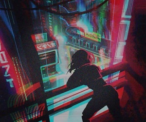 anime, cyberpunk, and neon image