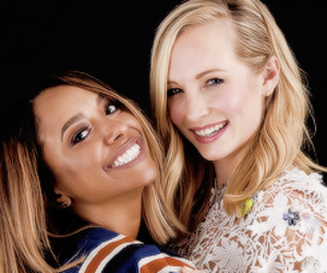 tvd, candice accola, and kat graham image