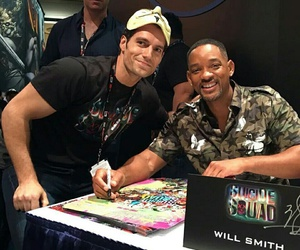 Henry Cavill, will smith, and superman image