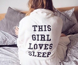 sleep, girl, and bed image