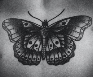 Harry Styles, butterfly, and tattoo image
