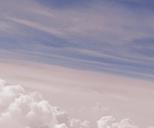 airplane, plane, and clouds image