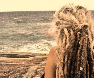 dreads, sea, and beach image