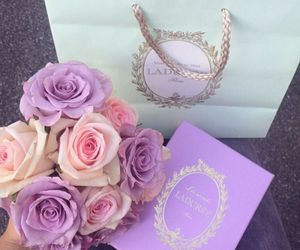 rose, flowers, and laduree image