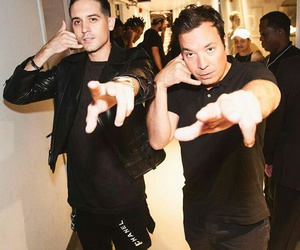 g-eazy, jimmy fallon, and rapper image
