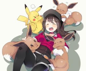 eevee, pikachu, and pokemon image
