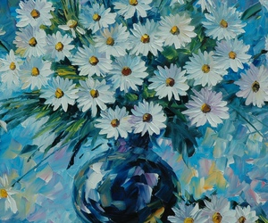 daisies and painting image