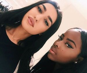 beauty, makeup, and besties image