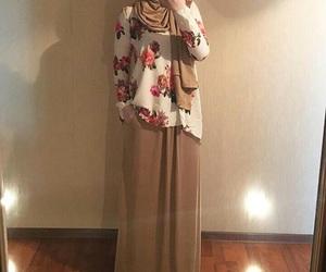 hijab, muslim girl, and hijab style image