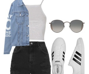 outfit, Polyvore, and whiteshoes image