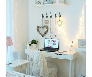 heart, room, and pink image