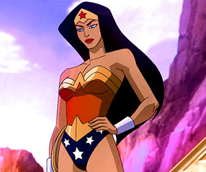 wonder woman and cartoon image