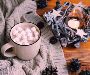 winter, candle, and cozy image