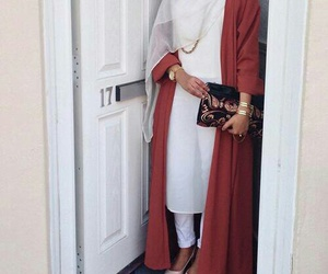 hijab, style, and white image