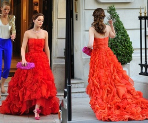 gossip girl, blair waldorf, and red dress image