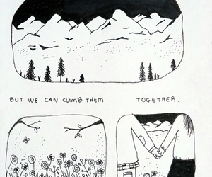 love, together, and mountains image