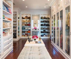 closet, bag, and clothes image