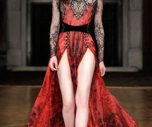beautiful, black, and haute couture image