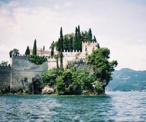 castle, sea, and nature image