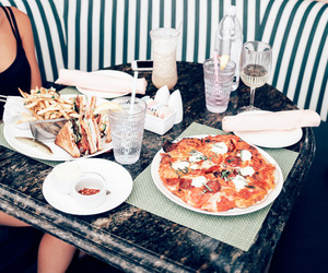 food, fashion, and pizza image