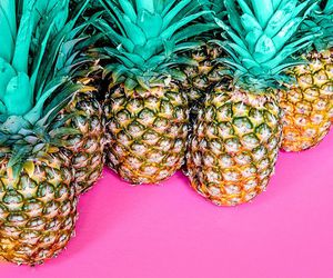 wallpaper, pink, and pineapple image